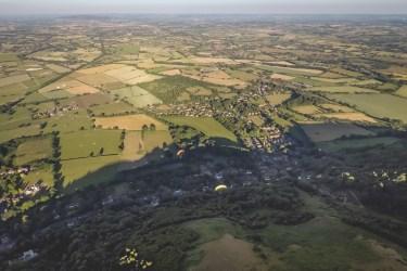 Paragliding over the Malverns