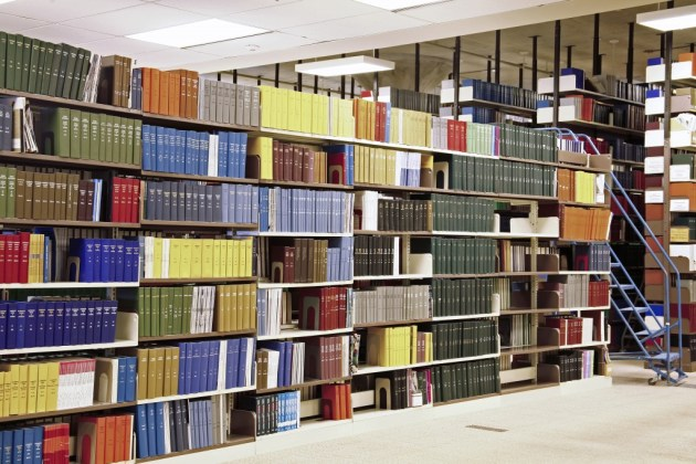 Interior view of library