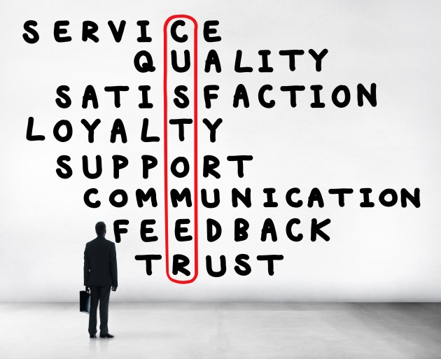 Customer Service Quality Satisfaction Crossword Puzzle Concept