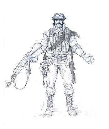 Poacher Front - Hat n Stache