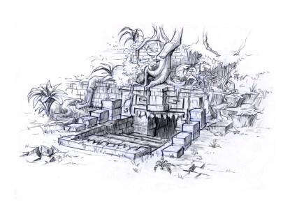 Xibalba Entrance - sketch 1 - open