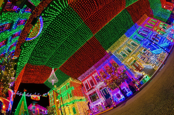 The new (as of 2011) canopy of lights at the Osborne Family Spectacle of - Osborne Lights At Disney World - Disney Tourist Blog