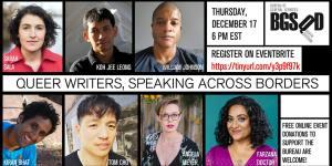 Queer Writers Across Borders flyer