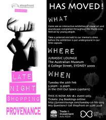 'Late Night Shopping' Invite (II), 2013