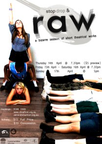 Raw Poster, 2011, Created in conjunction with the RAW Ensemble.