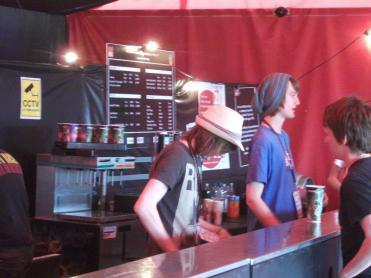 Just an idea of what it is I actually do at the festivals...serving beer for Charity!