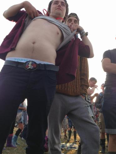 Lifting up my top in jubilation, Reading 2013