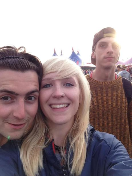 Us lot enjoying the Foals, Reading 2013