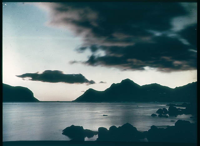 A Sub-Antarctic sunrise. South Georgia, 1915 / photographed by Frank Hurley