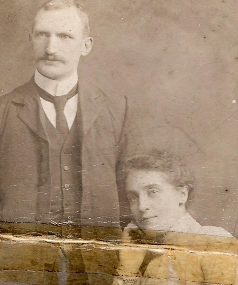 Cornelius Crean and his wife Annie. Cornelius was Tom Crean's brother.