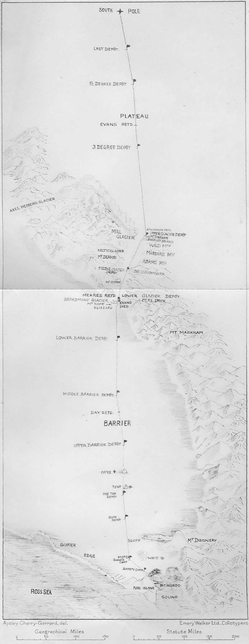 Terra Nova Expedition Route Map.