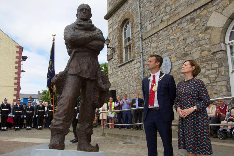 Shackleton Statue unveiling - Athy 2016.