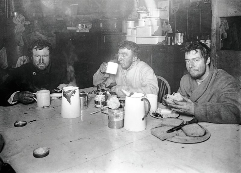 Wilson, Bowers and Cherry-Garrard, shortly after returning from the Winter Journey.
