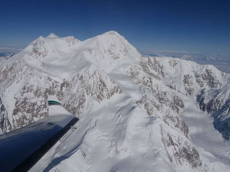 Denali from the air.