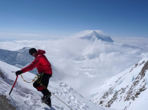 Jerry O'Sullivan on his way to the summit of Denali.