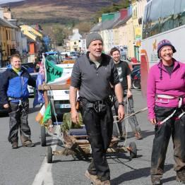 Team Tom Crean arrive in Kenmare