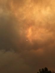The Sun through the smoke...