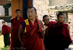 """""""The Monks."""" They managed to ignore me at a monastery in Bhutan, November 2003."""