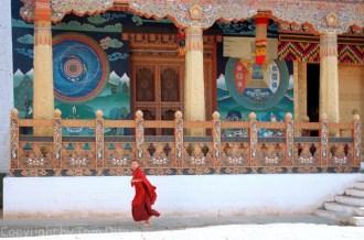 """""""The Runner."""" Bhutanese monastery, November 2003."""