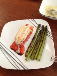Butterflied Lobster and Asparagus