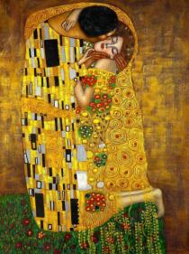 הנשיקה מאת גוסטב קלימט, 1907