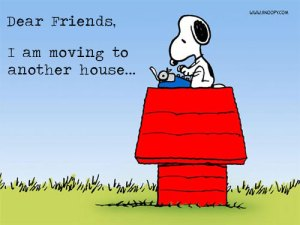 Snoopy is moving too
