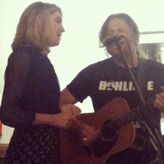 Woo, so fun singing with Tom Freund tonight. ???