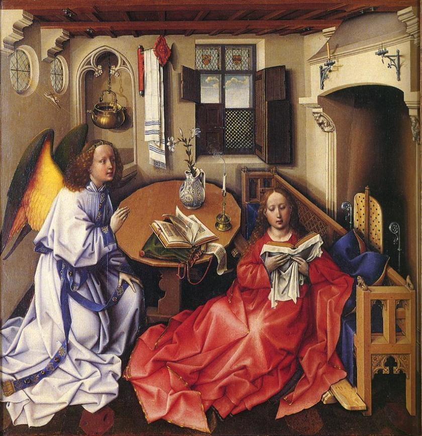 The Merode Altarpiece, Robert Campin c. 1428