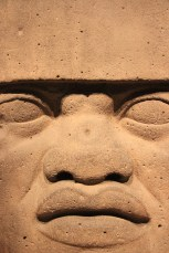 Large carved head from the south