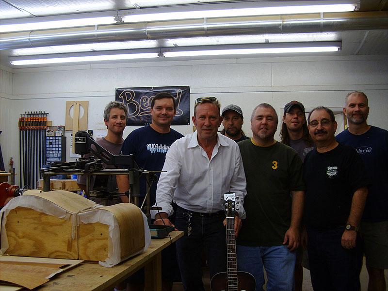 with john lilley, paul beard, and the folks at beard guitars