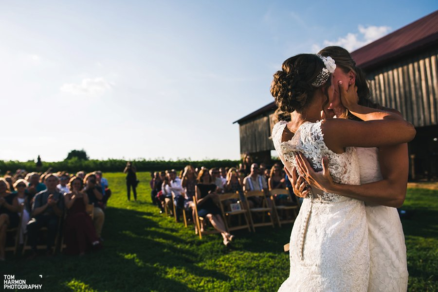Heather And Ambers Historic Penn Farm Wedding Was Straight Fire Because It Was Hot  New