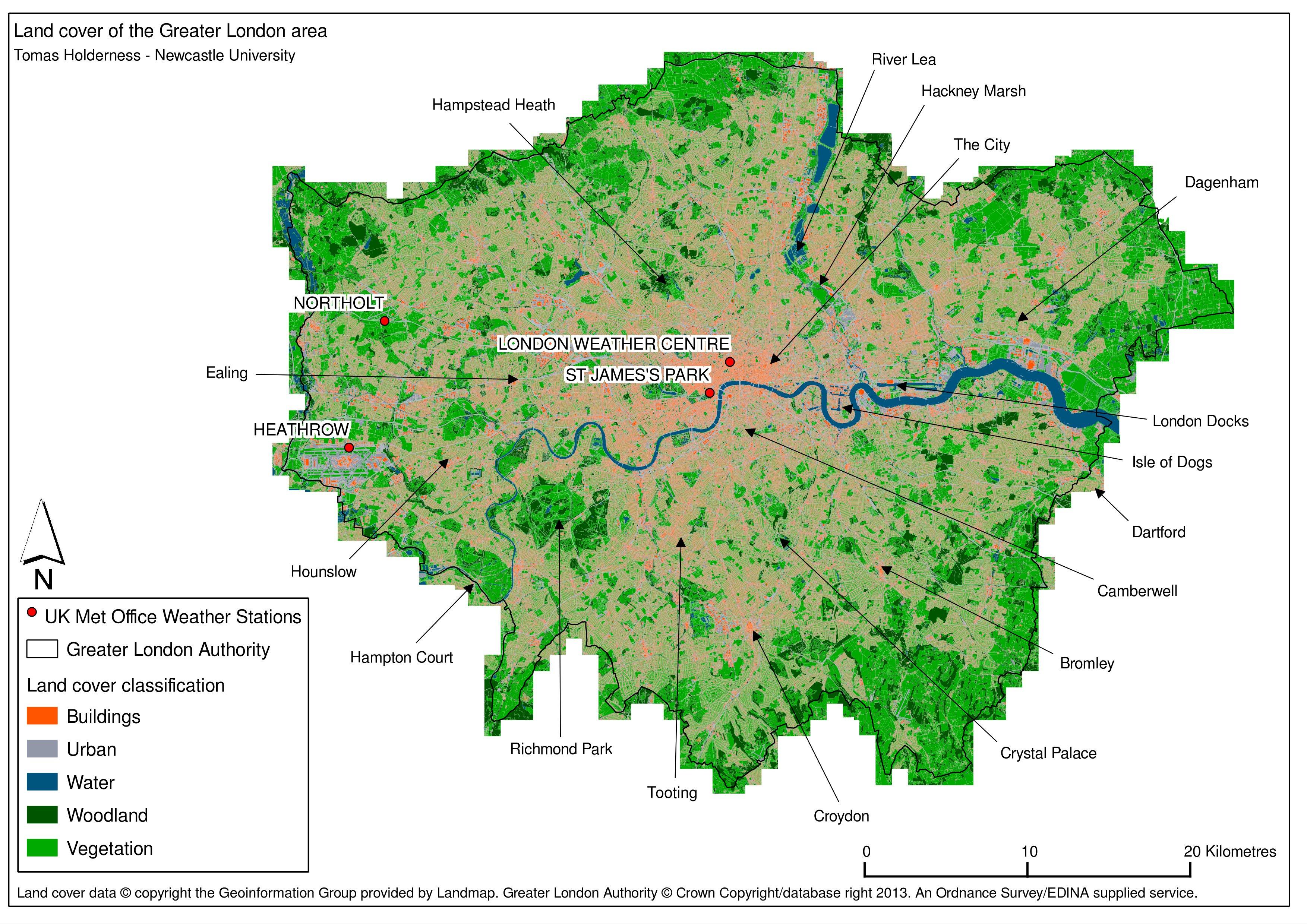 London Land Use Map
