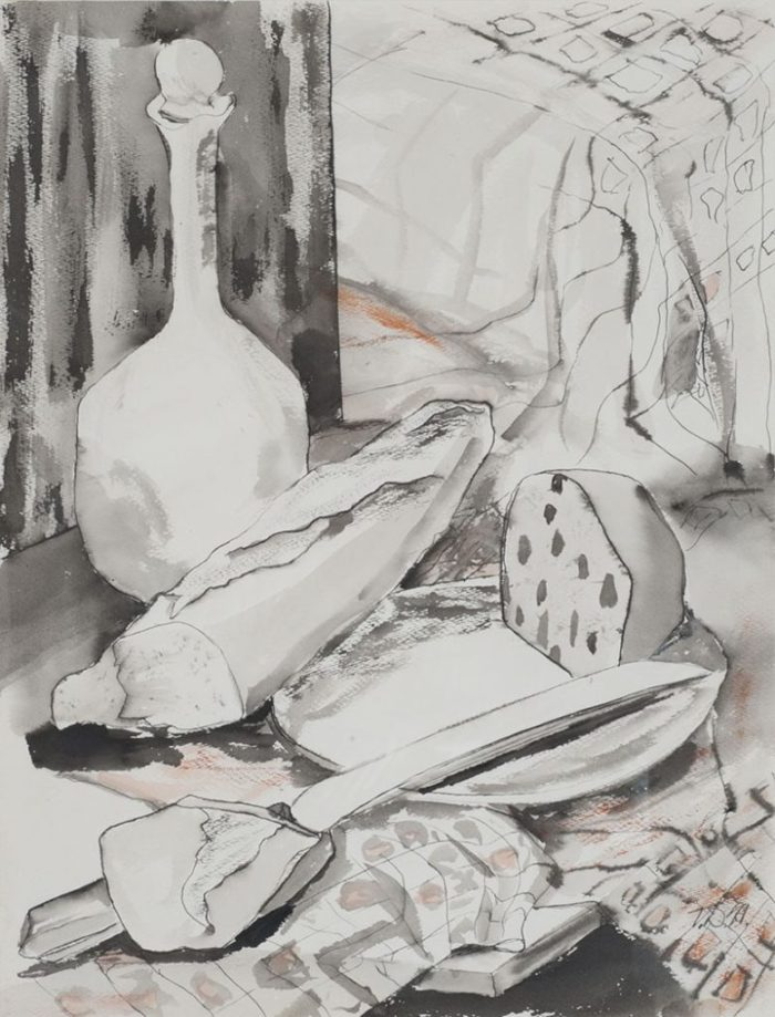 Study of Still Life with African String Instrument