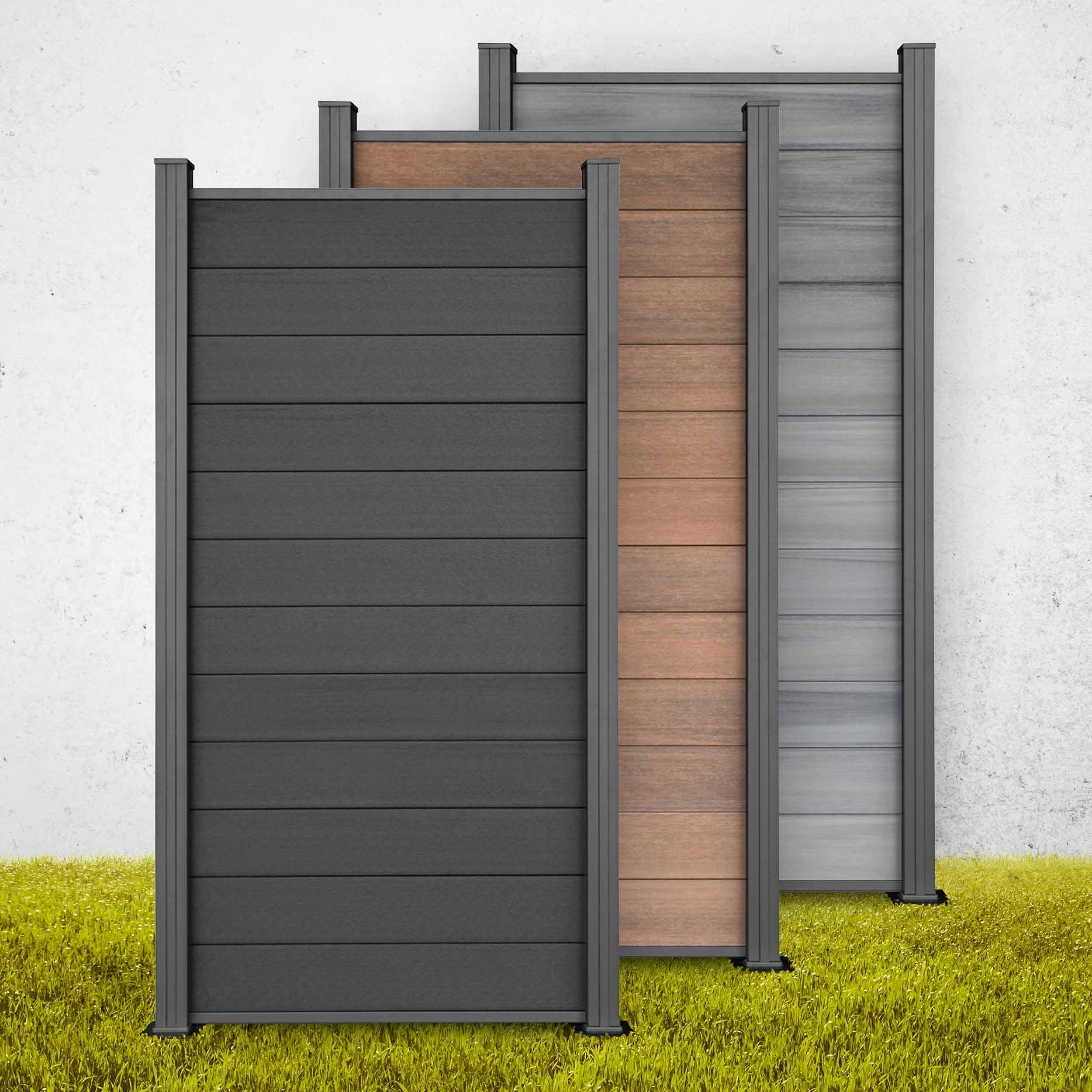 Wpc Terrasse Grau Holz Wandverkleidung Teak Grau Braun Bs