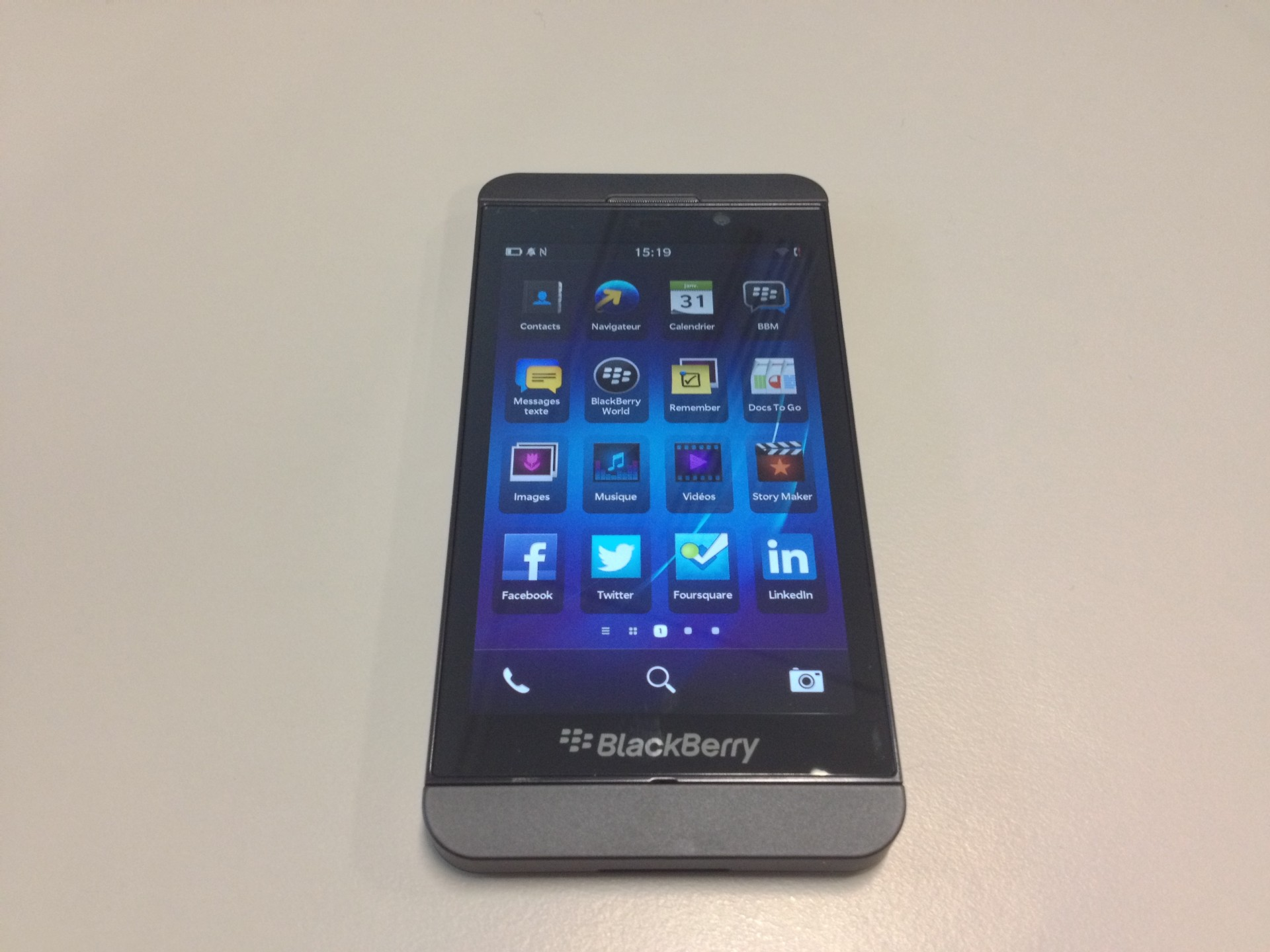 Blackberry Z10 Menu