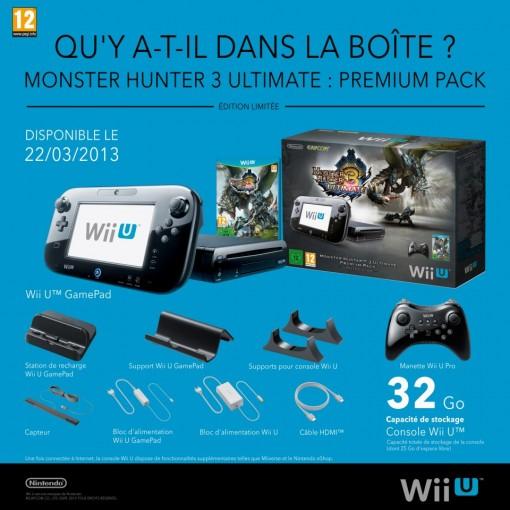 Pack monster Hunter 3 ultimate Wii U