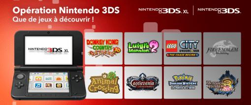Promo 3DS jeux offerts