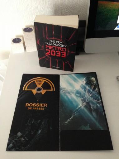 Dossier presse, lithographie et Metro 2033 dédicacé
