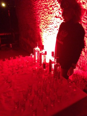 Dégustation de vodka à la soirée Metro Last Light