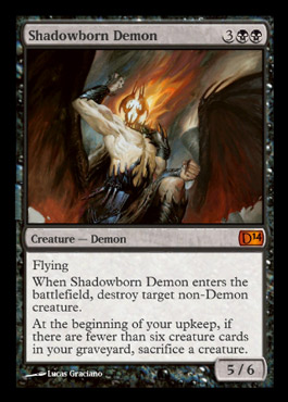 Magic 2014 shadowborn demon