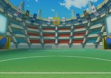 Inazuma eleven 3 3DS stade artwork