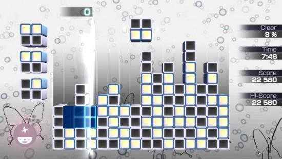 Lumines gameplay 2