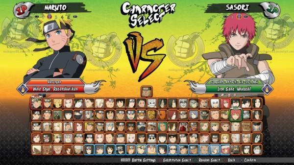 Naruto Revolution Roaster