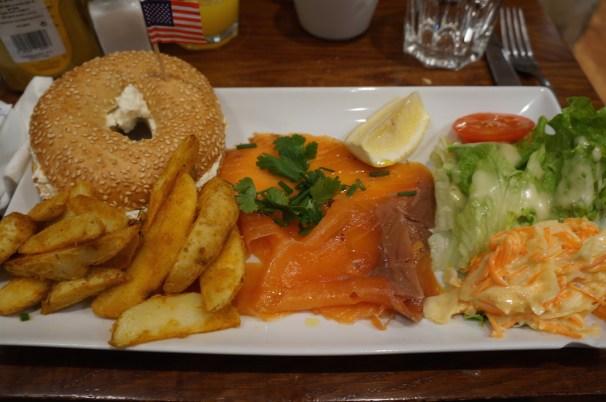 Bagel New-Yorkais au saumon