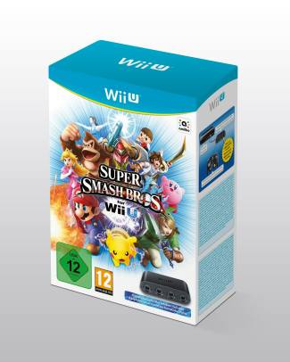 Adaptateur Wii U + Super Smash Bros
