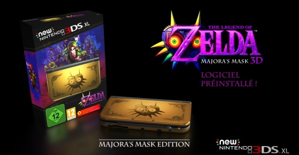 Bundle New Nintendo 3DS XL Zelda Majora's Mask 3D front