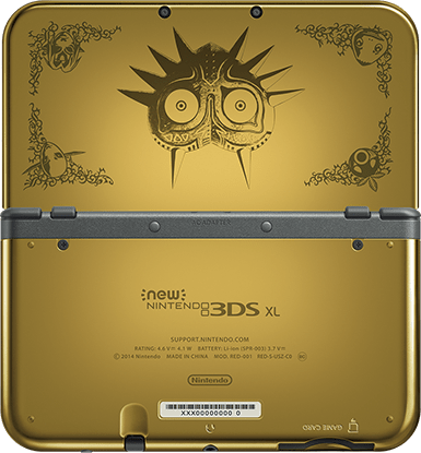 New Nintendo 3DS XL Zelda Majora's Mask 3D back