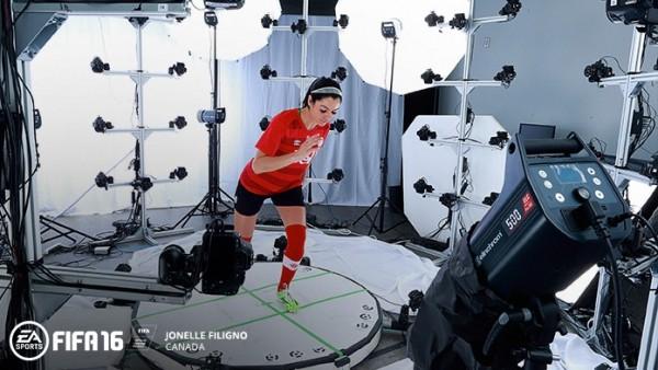 Motion capture FIFA 16 Femme