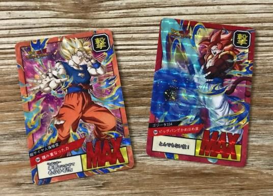 Arrivée de deux Carddass Fancards Super Battle Dokkan Battle