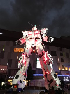 RX-0 Unicorn Gundam at ODAIBA